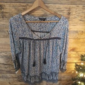 LUCKY BRAND TUNIC PEASANT TOP..SIZE XL